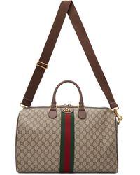 Gucci 【公式】 (グッチ)〔オフィディア〕GG ミディアム キャリーオンダッフルバッグGGスプリーム キャンバス ベージュ - ナチュラル
