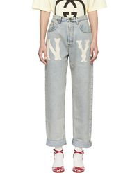 Gucci - Blue Ny Yankees Edition 80s Jeans - Lyst