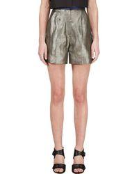 ROKSANDA - Grey Metallic Francine Shorts - Lyst