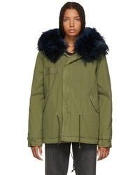 Mr & Mrs Italy - Green And Blue Quilted Fur Jacket - Lyst