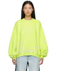Alexander Wang イエロー Garment Dyed スウェットシャツ