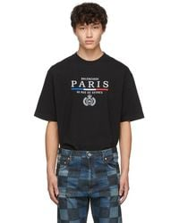 Balenciaga Black Paris Flag Regular Fit T-shirt