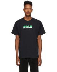 Noah ブラック グラディエント ロゴ T シャツ