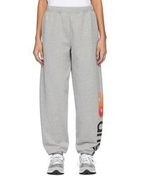 Aries Grey New Balance Edition Logo Lounge Trousers - Gray