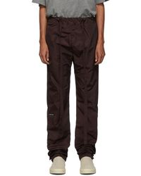 Fear Of God Burgundy Nylon Lounge Trousers - Multicolour