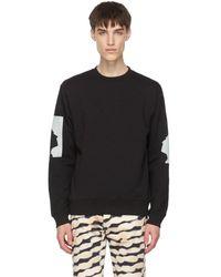 Dries Van Noten Black Len Lye Edition Graphic Sweatshirt
