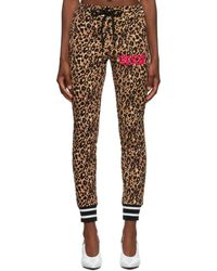 Versace Jeans Couture ベージュ And ブラック レオパード ラウンジ パンツ - マルチカラー