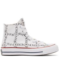 JW Anderson - White Converse Edition Grid Logo Sneakers - Lyst