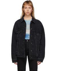 Acne Studios Bla Konst コレクション ブラック 2000 デニム ジャケット