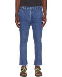 Remi Relief Bootcut Denim Jeans - Blue