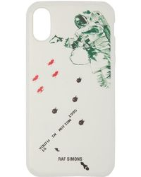 Raf Simons - White Youth In Motion Iphone X Case - Lyst
