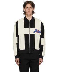 AWAKE NY Black And Off-white Corduroy Logo Jacket