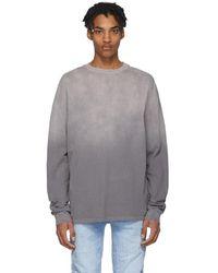 Ksubi Grey Faded Long Sleeve T-shirt