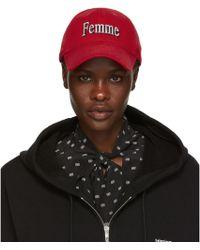 8cd10e9e4db Balenciaga - Red Femme Baseball Cap - Lyst
