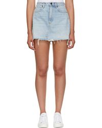 Alexander Wang - Blue Bite Denim Miniskirt - Lyst