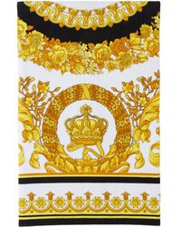 Versace ホワイト Crete De Fleur タオル - イエロー