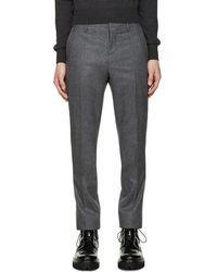 Carven - Grey Wool Trousers - Lyst