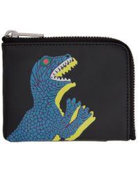 PS by Paul Smith - Black Dino Corner Zip Wallet - Lyst