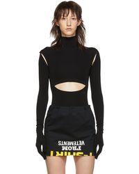 Vetements Black Cut-up Bodysuit