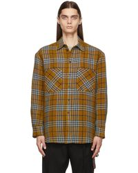 Song For The Mute Jute Check Shirt - Multicolour