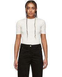 AMI オフホワイト フィット T シャツ