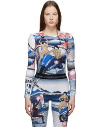 Marine Serre - Multicolor Helene Jeudy Edition Graphic Long Sleeve T-shirt - Lyst