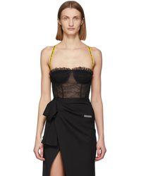 Off-White c/o Virgil Abloh Ssense Exclusive Black Lace Bodysuit