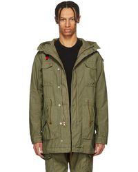 John Elliott - Green Military Coat - Lyst