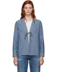 Visvim - Blue Denim Lhamo Jacket - Lyst