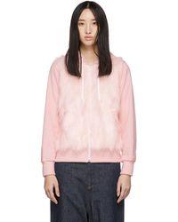 Comme des Garçons - Pink Faux-fur Panel Hoodie - Lyst