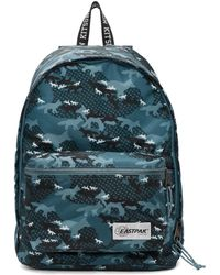 Maison Kitsuné Eastpak Edition ブルー カモフラージュ Out Of Office バックパック
