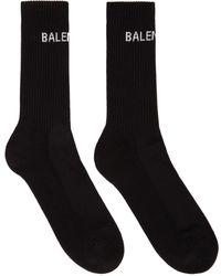 Balenciaga ブラック ロゴ テニス ソックス