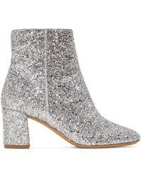 Mansur Gavriel - Silver Glitter Boots - Lyst