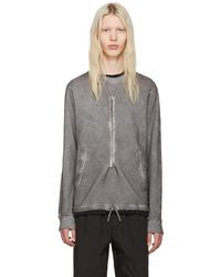 Stone Island Gray Zippers Pullover