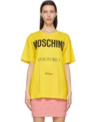 Moschino イエロー Couture T シャツ
