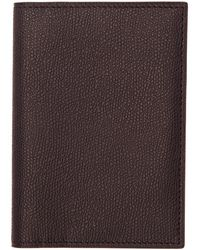 Valextra - Black 3cc Passport Holder - Lyst