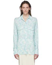 Kwaidan Editions マルチカラー スリム ボタン シャツ - ブルー
