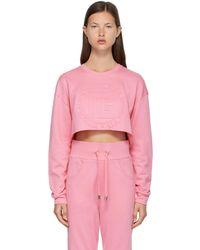 Balmain ピンク ロゴ スウェットシャツ