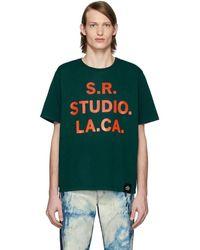 S.R. STUDIO. LA. CA. - グリーン S.r.s. Logo And Vampire Sunrise ベーシック T シャツ - Lyst
