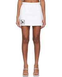 Heron Preston - Mini-jupe blanche HP Periodic Sweatshirt - Lyst