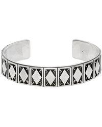 Emanuele Bicocchi Silver Rhombus Pattern Bracelet - Metallic