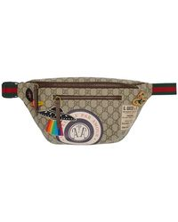 Gucci Beige GG Supreme Courier Belt Bag - Natural