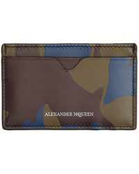 Alexander McQueen - Burgundy Military Camo Card Holder - Lyst