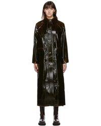 Kassl ブラウン ウール Original Long Lacquer コート