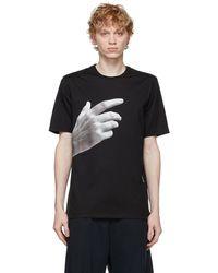 Neil Barrett ブラック The Other Hand シャツ
