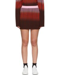 Opening Ceremony - Multicolour Dip Dye Striped Miniskirt - Lyst