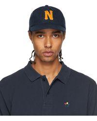Noah ネイビー 6 パネル キャップ - ブルー