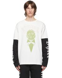 Vyner Articles オフホワイト レイヤード Skater ロング スリーブ T シャツ