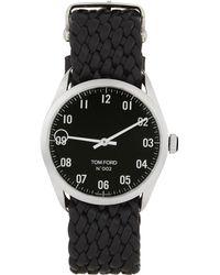 Tom Ford シルバー & ブラック 002 腕時計