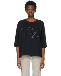JW Anderson ブラック Oscar Wilde オーバーサイズ T シャツ